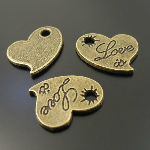 Love bronze 14 x 12 mm