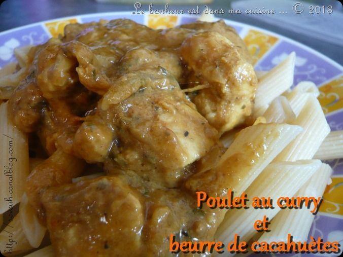 Poulet au curry et beurre de cacahuètes