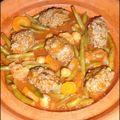 ~algérie~ tajine de quenelles de viande haché et ses légumes