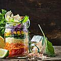 Salade de crudités en bocal