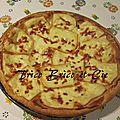 Tarte lardons/raclette toute simple et rapide à faire