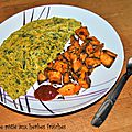 Patate douce rôtie aux herbes fraîches