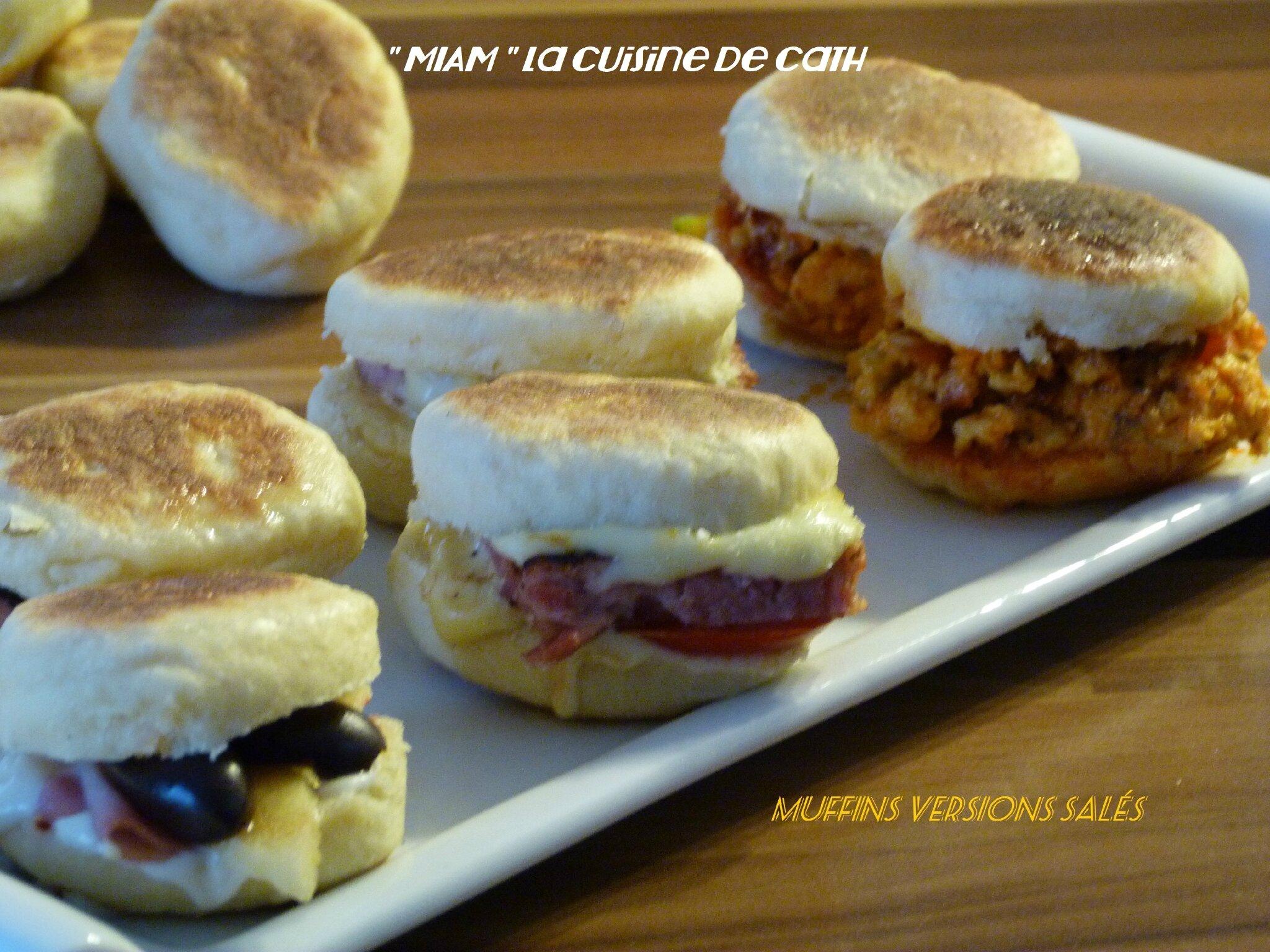 """ღ """" MIAM """" Muffins poêlés version salés ^^"""