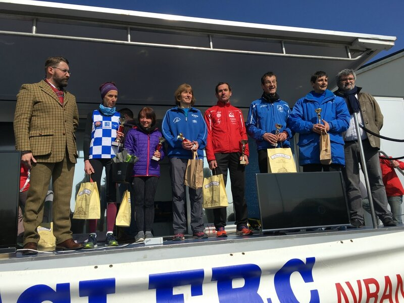 Athletic Club Avranches podium course 2016 10km vétérans