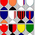 Les couleurs des clubs de l1 en écussons