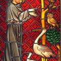 St François aux oiseaux. Copie XIV°siècle
