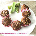Muffins pomme-rhubarbe ( 100 cal/ par muffin)
