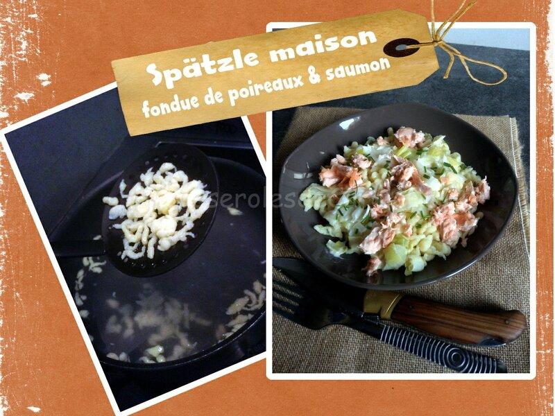 Spatzle saumon poireaux (SCRAP)