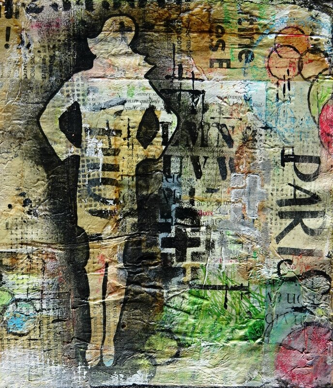 une page mixed media