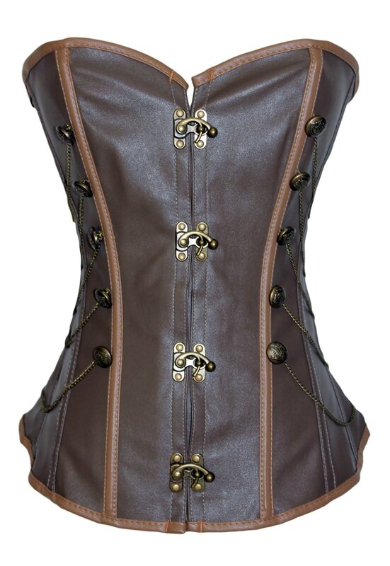 Brown-Steam-Punk-Corset-LC5338-1