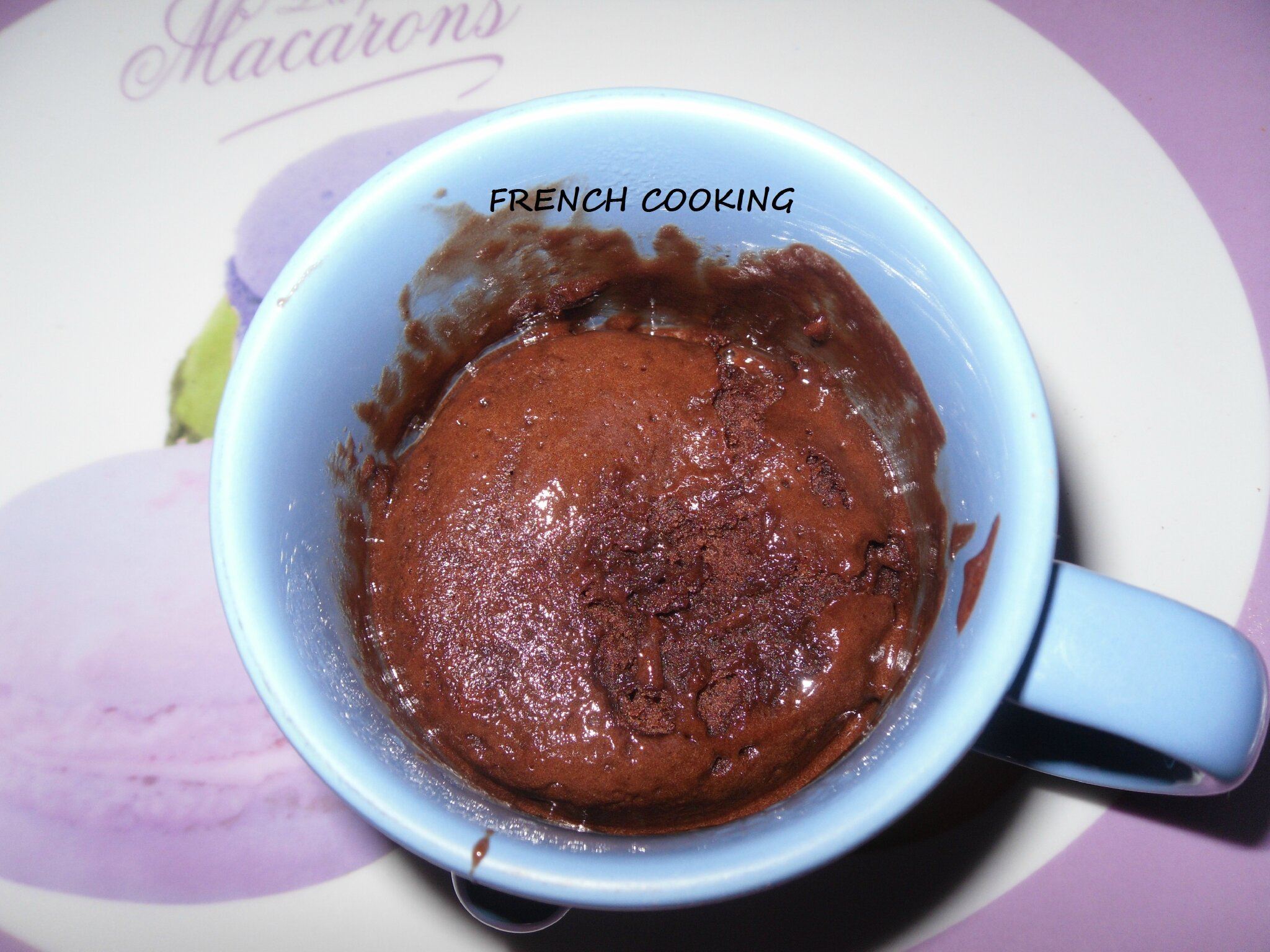 Mug Brownie Nutella French Cooking