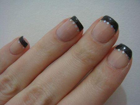 Nail art french noire 2