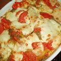 Lasagnes tomates, mozza et pistou, et quelques petits plus