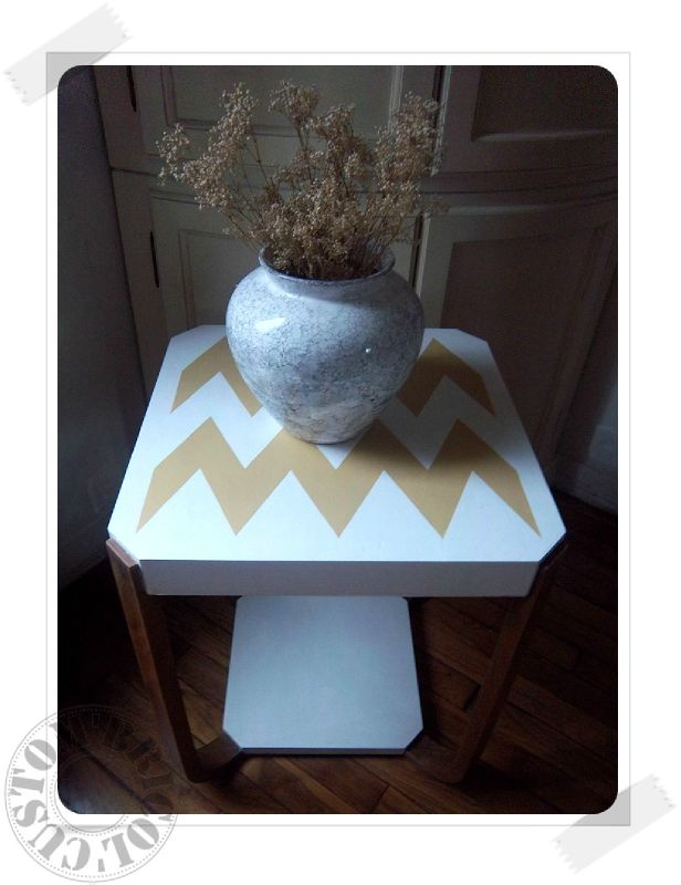 Table chevron face