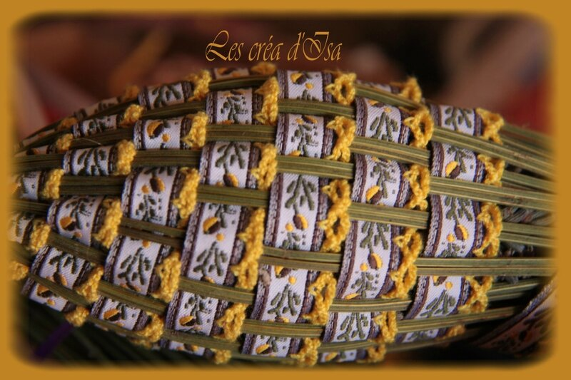 navette ruban provence jaune marron