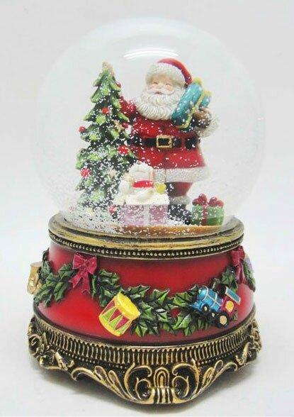 Boule à neige musicale de Noêl avec Père Noël