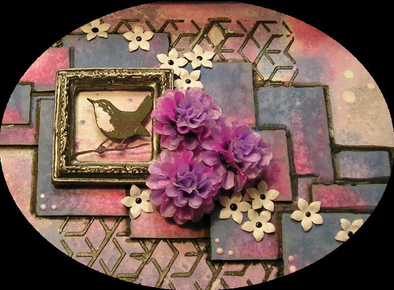 cadre oiseau violet