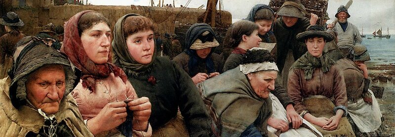 Walter_Langley_-_Waiting_for_the_Boats