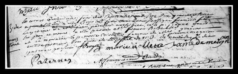 acte naissance François Paterne