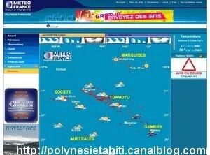 Site meteo en Polynesie