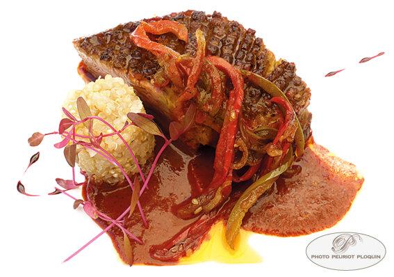 Cannette_a_la_sauce_pibil_sauce_mexicaine_et_quinoa_piments_mexicains_poivron_escabeche_par_Claude_Emmanuel_Robin_L_Allee_des_Vignes_a_Cajarc_46