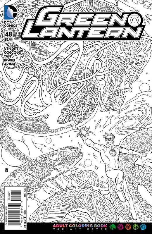 green lantern 48 adult coloring variant