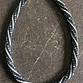 Spirale au crochet et swarovski