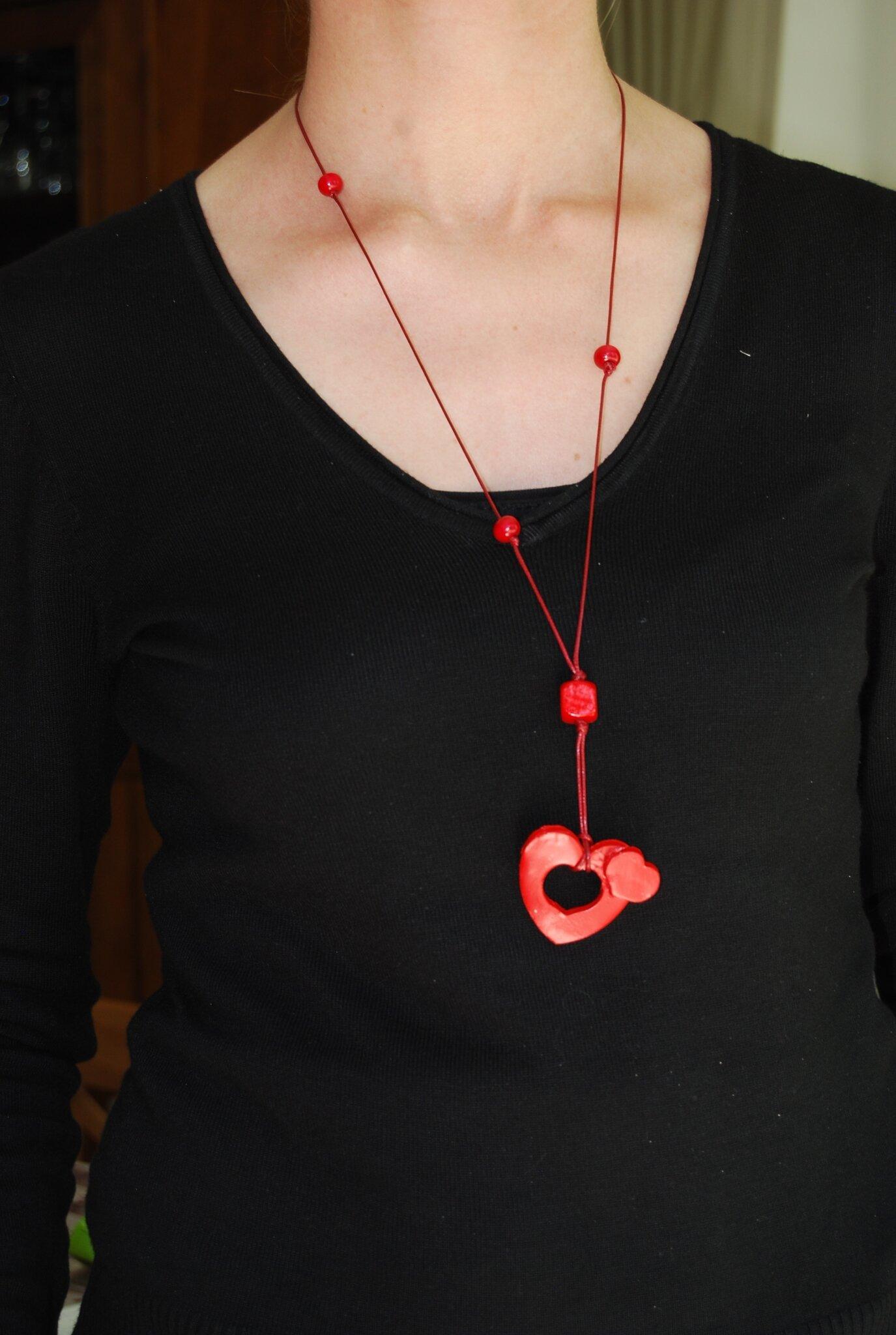 pendentif double coeur décalé (dispo)