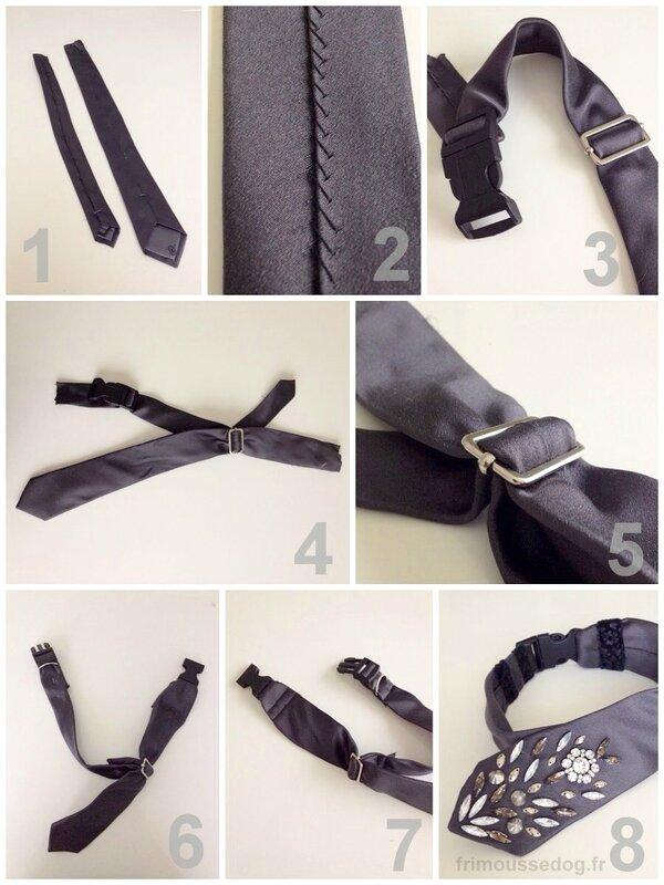 DIY Collier pour chien avec une cravate by frimoussdog