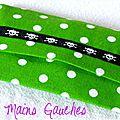 Du vert ... des pois ... des têtes de mort ... un étui à mouchoirs unisexe !!