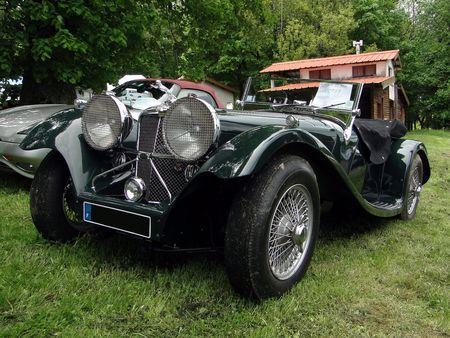JAGUAR SS 100 1939 Exposition de vehicules sportifs du Club Ravage HOHBUHL 2010 1