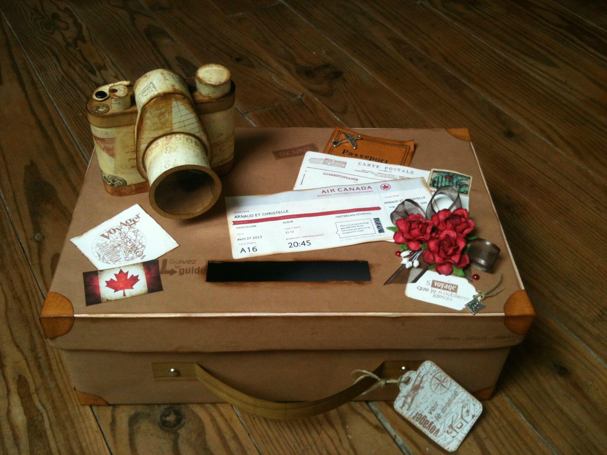 urne valise vintage le scrap de delphine. Black Bedroom Furniture Sets. Home Design Ideas