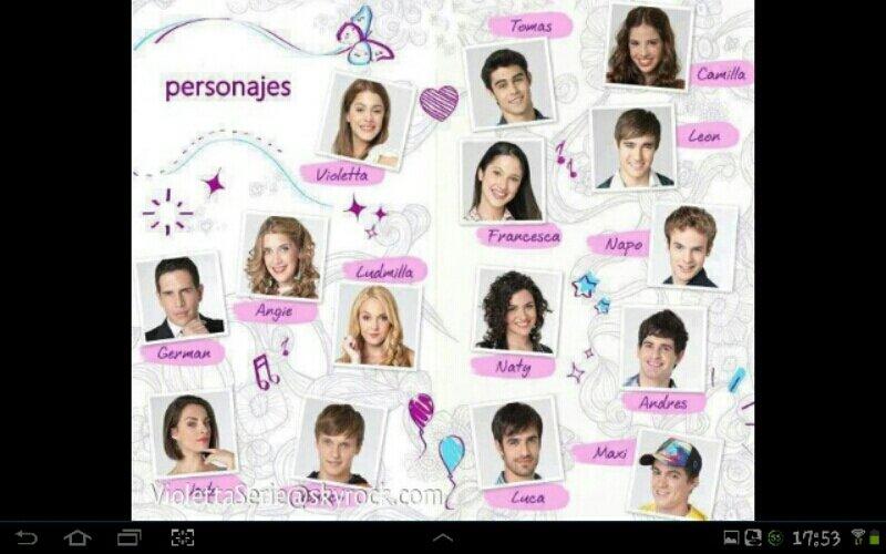 Les personnages de violetta saison 1 - Violetta saison 2 personnage ...