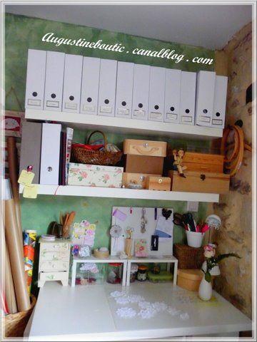 Mon atelier...sur la photo ordonné ...