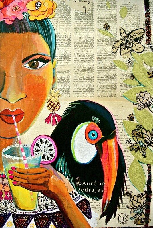 extrait droite-peinture cactus-toucan & pithaya- mars2014