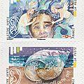 Sirènes dans le carnet de timbres