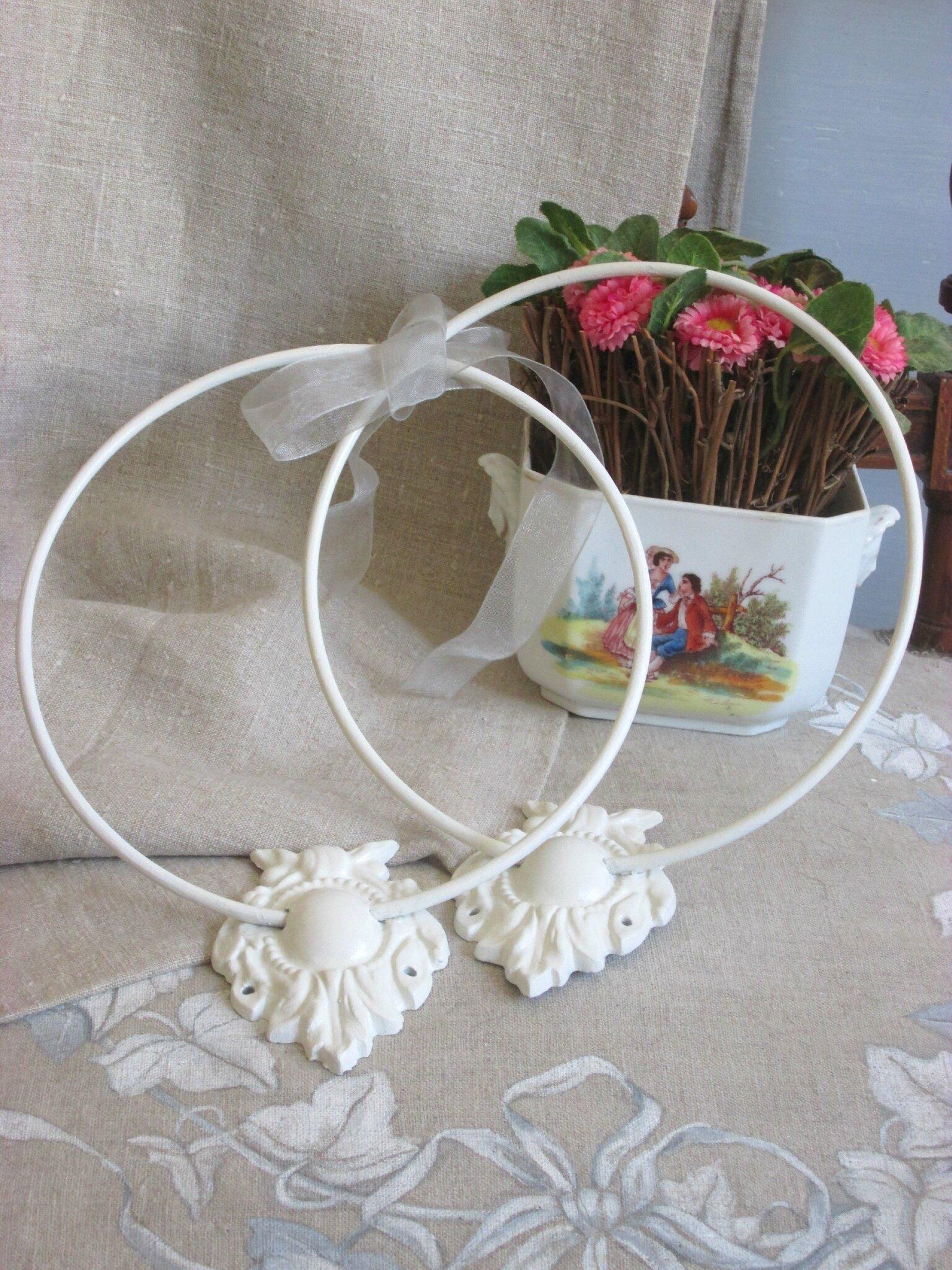 Embrasses de rideaux blanc d'ivoire