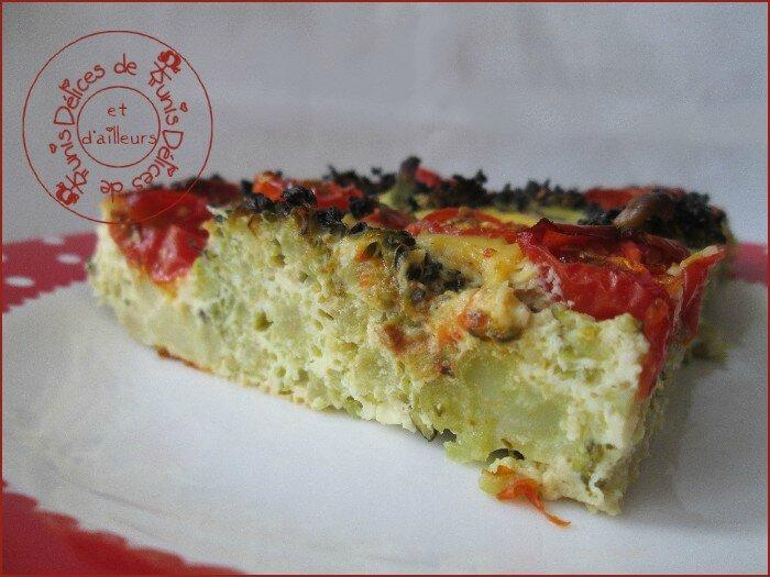 quiche sans pâte brocolis - tomates cerises 2