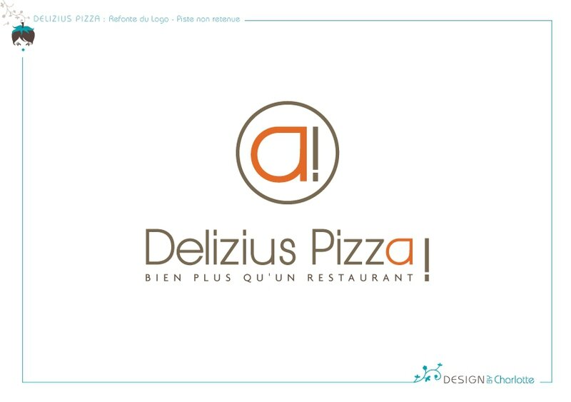 delizius pizza refonte du logo design by charlotte graphiste ind pendante en freelance pour. Black Bedroom Furniture Sets. Home Design Ideas