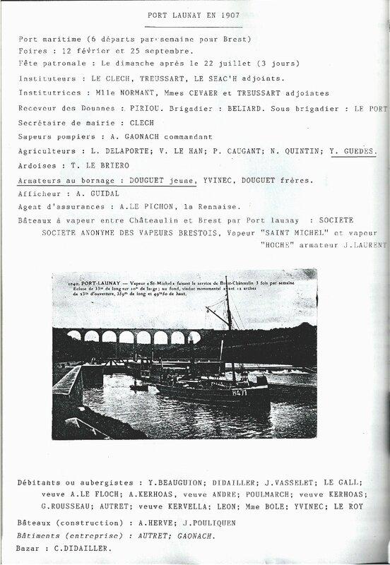 1907 - Grands electeurs - debits de boissons de Port-Launay 1