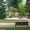 Un banc du parc de Chateauroux (Indre 36)