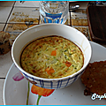 Gratin de courgettes au riz et mimolette