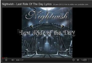 nightwish last ride of the day