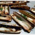 Couteaux au barbecue, beurre d'ail et d'aneth !