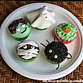 Cupcakes halloweenesques, vanille et chocolat