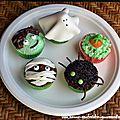 Cupcakes halloweenesques, vanille et chocolat