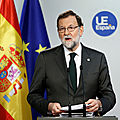 Rajoy annonce l'activation de l'article 155 et la révocation du gouvernement de la catalogne
