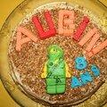 Gateau d'anniversaire lego ninjago lloyd