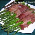Asperges grilles et prosciutto