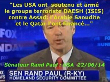 Ce qui pose vraiment problème est l'alignement de la France et des Etats-Unis sur des pays comme l'Arabie Saoudite et le Qatar..